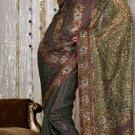 Indian Womens Clothing Saree Embroidered Saree Sari - X225
