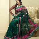 Sari Saree Indian Bollywood Designer Embroidered Fancy - X 3420