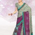 Faux Crape Sarees Sari Designer Printed Casual Fancy Saris - X 812A