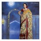 Chiffon Designer Partywear Printed Sarees Sari With Blouse - LPT 2005