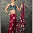 Indian Bollywood Designer Embroiderey Wedding Bridal Saree Sari - CH 1105