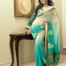 Sari Saree Indian Bollywood Designer Embroidered Fancy - X 3414