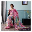 Brasso Partywear Printed Saree Sari With Blouse - LPT 1975