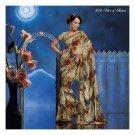 Chiffon Designer Partywear Printed Sarees Sari With Blouse  - LPT 2021