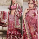 Designer Wedding Sari Bollywood Party Wear Sari - X710