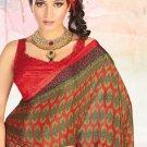 Faux Crape Sarees Sari Designer Printed Casual Fancy Saris - X 822A