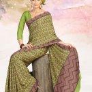 Faux Crape Sarees Sari Designer Printed Casual Fancy Saris - X 816A