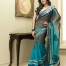 Sari Saree Indian Bollywood Designer Embroidered Fancy - X 3417