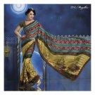Sattin Patti Designer Partywear Printed Sarees Sari With Blouse  - LPT 2042
