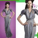Embroiderd Bridal Wedding Designer Sarees Sari - X2257