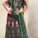 Embroidery Bridal Wedding Designer Saree Sari - X733