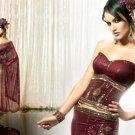 Embroidery Bridal Wedding Designer Saree Sari - X92