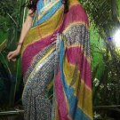Indian Womens Clothing Saree Printed Saree Sari - X616