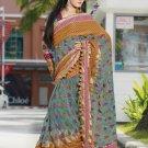 Indian Bollywood Designer Embroidered Saree Sari - X3003