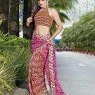 Indian Bollywood Designer Embroidered Saree Sari - X3020