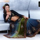 Indian Bollywood Designer Embroidery Saree Sari - TF 420