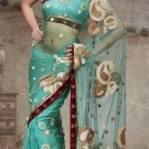 Designer Wedding Sari Bollywood Party Wear Sari - X727