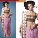 Embroiderd Bridal Wedding Designer Sarees Sari - X2270