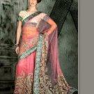Indian Bollywood Designer Embroiderey Wedding Bridal Saree Sari - CH 1118