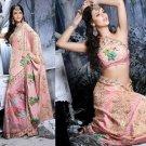 Indian Womens Clothing Saree Embroidered Saree Sari - X2217