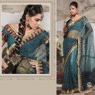 Designer Wedding Sari Bollywood Party Wear Sari - X704