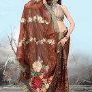 Indian Bollywood Designer Embroiderey Wedding Bridal Saree Sari - CH 1077