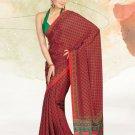 Faux Crape Sarees Sari Designer Printed Casual Fancy Saris - X 823B