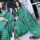 Indian Womens Clothing Saree Embroidered Saree Sari - X2226