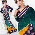 Saris Sarees Indian Bollywood Designer Bridal Wedding Embroidered - TS 20006