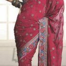 Faux Georgette Wedding Designer Embroiderey Saree Sari With Blouse - X 229 N