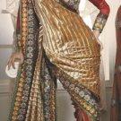 Georgette Tissue Wedding Designer Embroiderey Saree Sari With Blouse - X 236 N