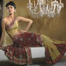 Faux Georgette Wedding Designer Embroiderey Saree Sari With Blouse - X 254 N
