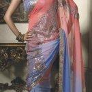 Faux Georgette Wedding Designer Embroiderey Saree Sari With Blouse - X 221 N