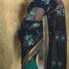 Net Georgette Wedding Designer Embroiderey Saree Sari With Blouse - X 249 N