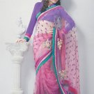 Saree Bridal Net Georgeous Embroidery Sari With Unstich Blouse - X 819 N