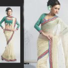 Saree Bridal Faux Georgette Georgeous Embroidery Sari With Unstich Blouse-X826 N