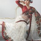 Saree Bridal Net Georgeous Embroidery Sari With Unstich Blouse - X 812 N