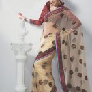 Saree Bridal Net Georgeous Embroidery Sari With Unstich Blouse - X 820 N
