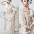 Saree Bridal Net Georgeous Embroidery Sari With Unstich Blouse - X 822 N
