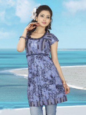 Indian Bollywood Cotton Partywear Kurti Kurta Tops - X 02 A