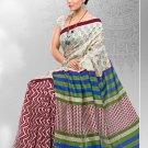 Silk Crepe Casual Partywear Designer Printed Sarees Sari With Blouse - X 4710C N