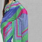 Silk Crepe Casual Partywear Designer Printed Sarees Sari With Blouse - X 4741A N