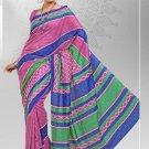 Silk Crepe Casual Partywear Designer Printed Sarees Sari With Blouse - X 4749B N