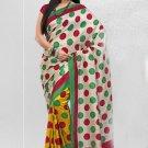 Silk Crepe Casual Partywear Designer Printed Sarees Sari With Blouse - X 4708B N