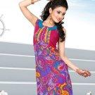 Indian Bollywood Cotton Partywear Kurti Kurta Tops - X 1018A