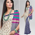 Silk Crepe Casual Partywear Designer Printed Sarees Sari With Blouse - X 4710A N