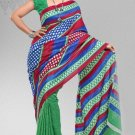 Silk Crepe Casual Partywear Designer Printed Sarees Sari With Blouse - X 4748A N