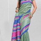 Silk Crepe Casual Partywear Designer Printed Sarees Sari With Blouse - X 4749A N