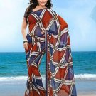 Partywear Faux Georgette Designer Exclusive Printed Saree With Blouse- NT 174a N