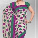 Silk Crepe Casual Partywear Designer Printed Sarees Sari With Blouse - X 4708C N